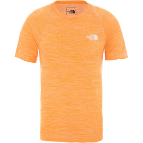 The North Face Impendor Seamless Tee Men, flame orange white heather